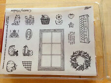Stampin Up COUNTRY WINDOW Rubber Stamps
