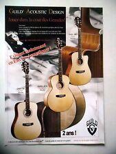 PUBLICITE-ADVERTISING :  Guitares GUILD série GAD  08/2006