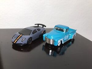 Lot of 2 Hot Wheels From 5 packs 52'Chevy (Pickup Truck) Lamborghini Murciélago
