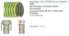 Kanaflex 300 Epdm Green 6 X 20 All Weather Suction Hose Assembly Mampf Camlock