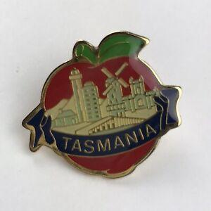 Tasmania Apple Isle Lapel Pin Travel Tourist Souvenir Multicolor