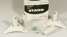 PRL) EASTERN MULTI STAND MS-100 WHITE SUPPORTO SPEAKER STAND BASE POLE BRACKET