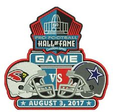 2017 HOF NFL FOOTBALL HALL OF FAME GAME PATCH DALLAS COWBOYS ARIZONA CARDINALS