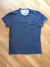 Abercrombie and Fitch T SHIRT screziato BLU MUSCLE FIT SMALL