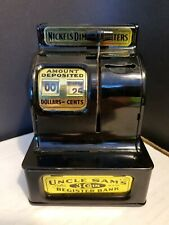 Vintage Japan Uncle Sam's 3 Coin Register Bank Western Stamping Jackson Michigan
