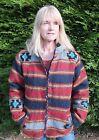Hommes+Femmes Rayure Multicolore Doublure Polaire Laine Veste Manteaux pour