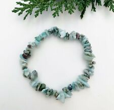 Larimar Crystal Chip Bracelet - Reiki Charged