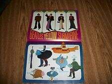 VINTAGE BEATLES POSTER THE YELLOW SUBMARINE ORIGINAL FROM 1968