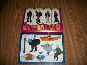 BEATLES POSTER THE YELLOW SUBMARINE ORIGINAL FROM 1968