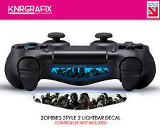 KNR0004 ZOMBIES STYLE 2 WALKING DEAD PS4 Dualshock Lightbar Decal Playstation 4