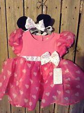 Disney Store Minnie Mouse 6 / 9 m months costume dress bodysuit Headband New