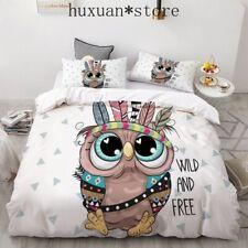 3D Cartoon Owl Bedding Set  Duvet Cover Set Europe King Cute  Blanket Cover Set