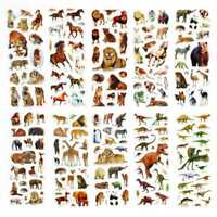10 Sheets Wild Animals Scrapbooking Bubble Stickers Reward Stickers Low Price