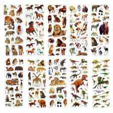 10 Sheets Wild Animals Scrapbooking Bubble Adhesive Stickers Reward Kids Toys