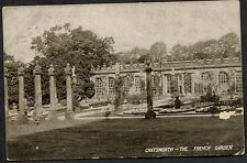 Posted 1913 View of the French Gardens, Chatsworth House