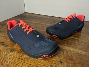 New! Louis Garneau Women's Urban Cycling Shoes Dark Night/ Coral Size 10 EU 41