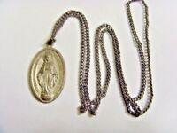 1954 vintage Catholic faith saint Mary my marrian medal pendant necklace 50050