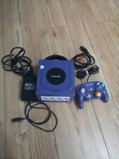 Nintendo Gamecube Purple Console Complete Setup - PAL UK Tested And Working