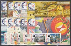 CW7711/ SINGAPORE – BLOCKS Y&T # 37 / 45 COMPLETE MINT MNH – CV 170 $