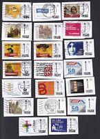 20 verschiedene Individual  Briefmarken auf Papier .... Gestempelt