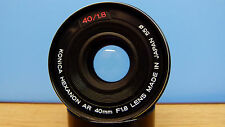 Konica Hexanon AR 40mm f=1.8 PANCAKE LENS GREAT for DSLR