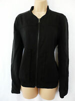 BNWT NEXT NEW Ladies RRP55 Black lightweight zip up bomber shell jacket  size 10