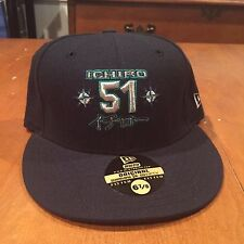 Ichiro Suzuki Seattle Mariners Hat New Era 59Fifty new with stickers 6 7/8 MLB