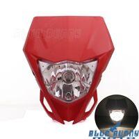 Custom Motorcycle Enduro Front Headlight Fairing For Honda XR 250 R XR 400 R Red