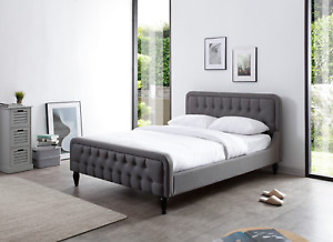 BRAND NEW Luxury Modern Button Bed  4ft 6