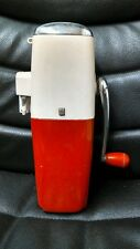 Vintage Ice-O-Mat Red and Chrome Ice Crusher, Mid Century, Deco