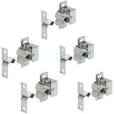 5 Stück Doppel-Rollenschnäpper Schnappverschluss Möbelschnäpper Stahl verzinkt