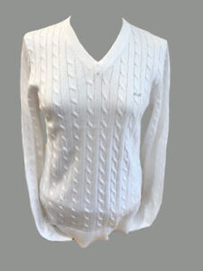 ROHNISCH CABLE SWEATER  size EXTRA LARGE colour  WHITE