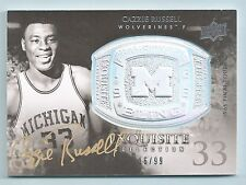 CAZZIE RUSSELL 2011/12 UPPER DECK EXQUISITE CHAMPIONSHIP BLING AUTOGRAPH /99