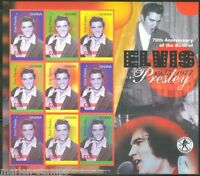 GHANA 70th BIRTH ANNIVERSARY OF ELVIS PRESLEY SC#2498 SHEET IMPERFORATED MINT NH