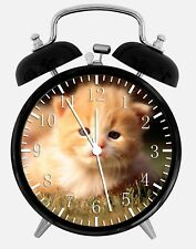 "Cute Kitten Cat Alarm Desk Clock 3.75"" Home or Office Decor W91 Nice For Gift"