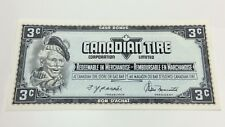 1974 Canadian Tire 3 Three Cents CTC-S4-A-AN Uncirculated Money Banknote D183