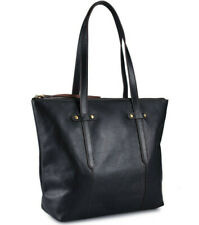 NWT Fossil Felicity Black Leather Tote SHB1981001 Shoulder Bag Brass $198 Retail