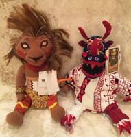 "Disney The Lion King Broadway Musical 12"" Stuffed Simba Lion Doll & Trickster #2"