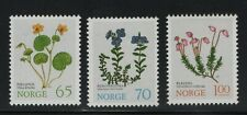 Norway Stamps 1973 Sg 709-711 Mountain Flowers Mounted Mint