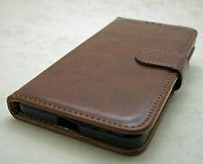 De lujo tapa Magnética funda soporte monedero cuero para Samsung Galaxy modelos negro Note 4