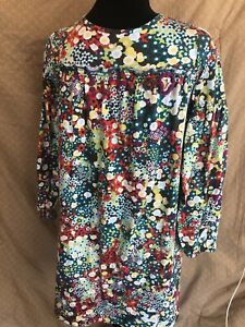 Hanna Andersson Size 150 (Size 12) Girls Cotton  Baby Doll Floral Dress