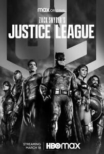 "Zack Snyder's Justice League Poster Art Print Size 11""x17"" 16""x24"" 24""x36"""