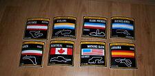 lot of 8 different Vintage RACE STICKER Race Track Formula 1 F1 1970´s