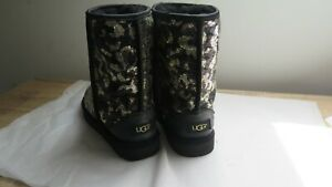 New lower price. Black/gold bling sequinned UGG boots  size 6.5/7 UK
