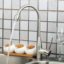Cold & Hot Swivel Spray Nickel Single Lever Mixer Tap Kitchen Sink Basin Faucet