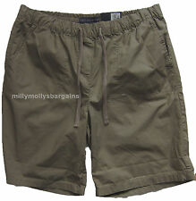 New Womens Marks & Spencer Brown Green Shorts Size 12