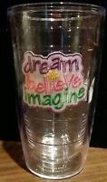 Tervis Tumbler 16 oz Glass DREAM BELIEVE IMAGINE Emblem Pastel Wording NEW