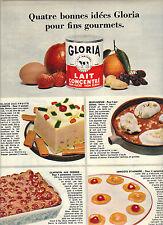 PUBLICITE 1966   GLORIA lait concentré