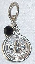 NEW 925 silver Victorian Wax Seal Charm,be still & enjoy the silence, peace USA