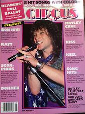 Circus November 30 1985 Bon Jovi Ratt Scoprions Dokken Motley Crue Keel Kiss BX4